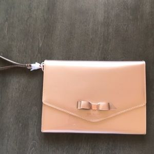 Ted Baker Clutch with wristlet handle.